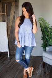 Pretty Little Thing Peplum Tank