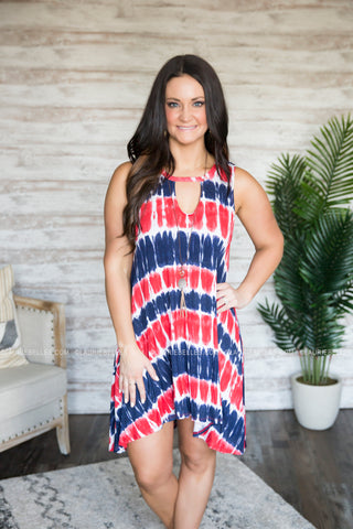 Independence Tie-Dye Dress