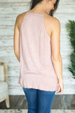 Plunging Lace Neckline Tank (Several Colors)