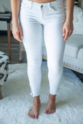 Sandy White Ankle Kan Can Jeans
