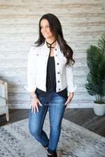 Ashley White Denim Jacket
