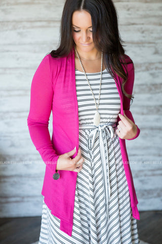 Classic Open Cardigan (Several Colors)