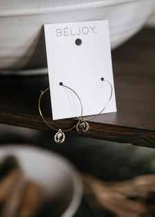 Beljoy Eggo Coin Earrings - FINAL SALE