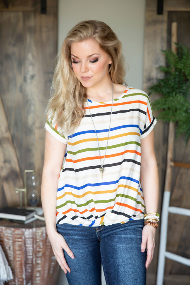Ruche Hour Striped Top