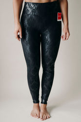 Spanx - Faux Leather Brocade Leggings - ONLINE ONLY