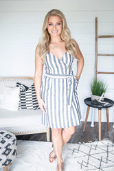 Off The Coast Striped Dress