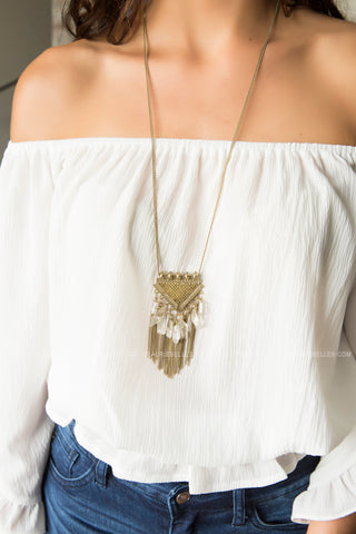 Mandy Chain and Tassel Necklace