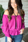 Keena Shoulder Top (Several Colors)
