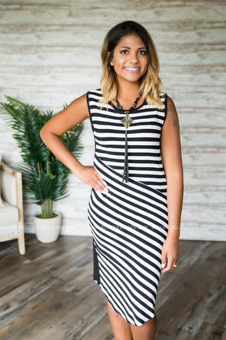 Brandy Striped Midi Dress