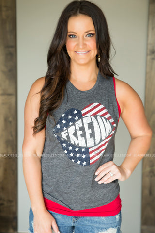 Shout Freedom Graphic Tank