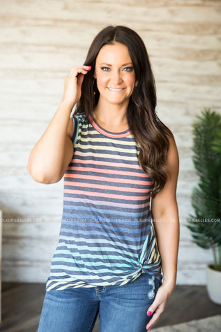 Technicolor Striped Tank (Two Colors) (S-3XL)