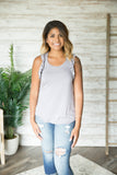 Beating Heart Ruffle Tank (Several Colors)