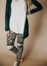 Laced In Leopard Cut Out Leggings