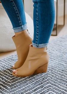 Sabrina Peep Toe Wedge Bootie
