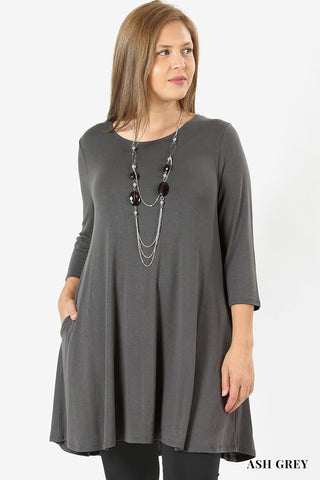 Curvy Essential A-Line Dress (1XL-3XL)