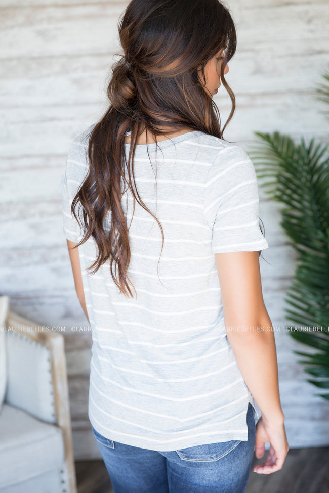 Casual Love Striped Tee