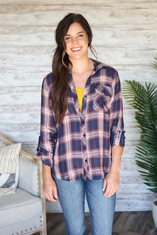 Fallon Plaid Top