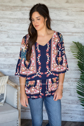 Clayton Printed Top