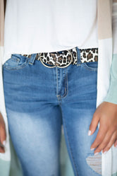 Leopard Waist Time Double O-Ring Belt