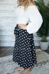 Muriel Polka-Dot Skirt
