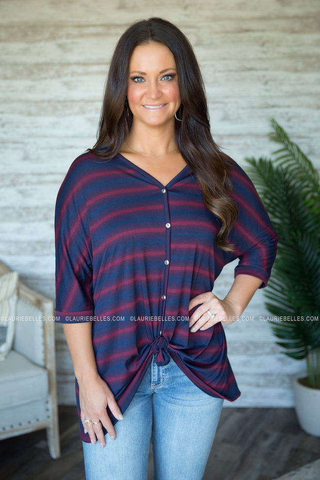 Leah Striped Top