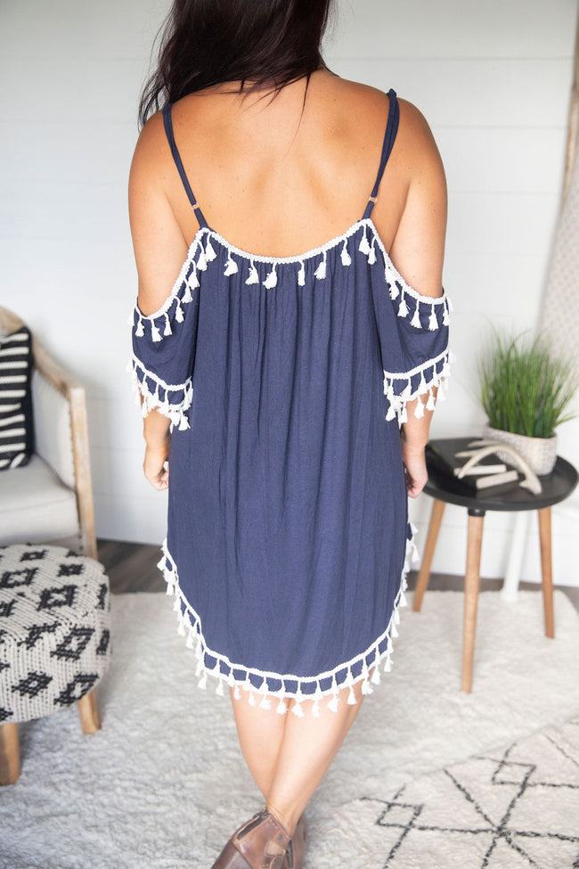 Before Sunset Tassel Dress
