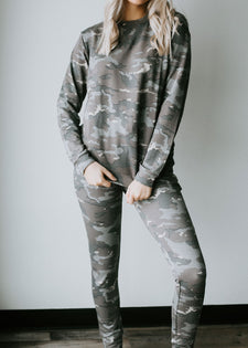 Our Full Attention Camo Joggers