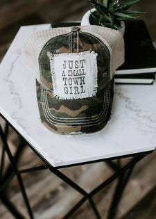 Just A Small Town Girl Trucker Hat - FINAL SALE