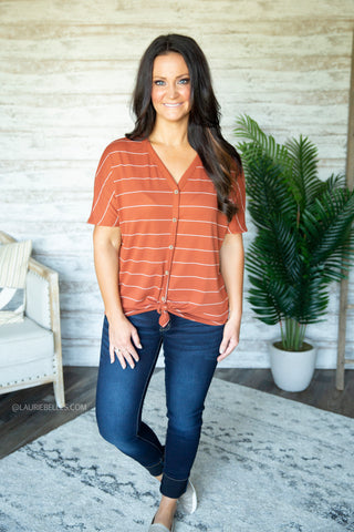 Zariah Button Down Top