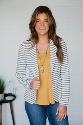 Meet And Greet Striped Blazer