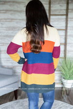 Cameron Striped Contrast Cardigan