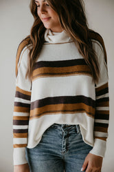 Millie Striped Turtleneck Sweater