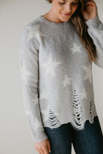 Rising Star Distressed Sweater