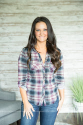 Zella Plaid Top