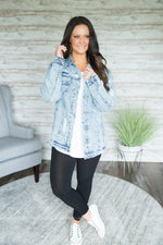 Acid Washed Distressed Denim Jacket (Two Colors)