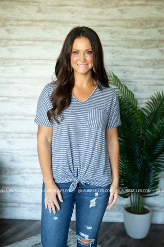 Stormee Striped Top