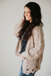 Robbie Braided Knit Cardigan
