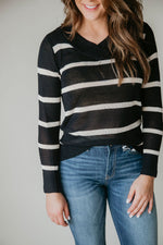 Talkative Stripe Sweater