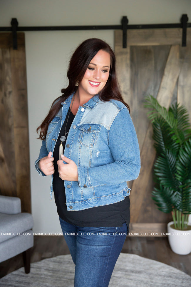 Curvy Halsey Denim Jacket