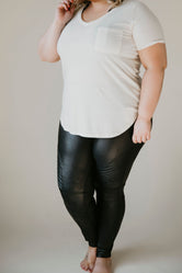 Curvy Spanx - Faux Leather Moto Leggings