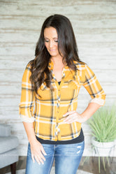 Kiyah Plaid Top