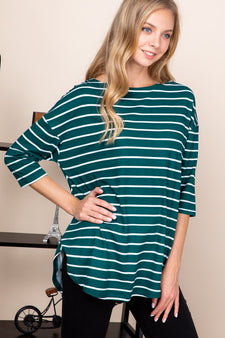 Curvy Stripe This Way Top