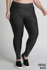 Curvy Draw The Line Moto Leggings - FINAL SALE
