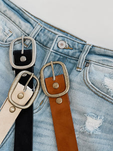 Instant Connection Faux Suede Belt