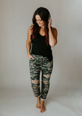 Kash Distressed Camo Pant