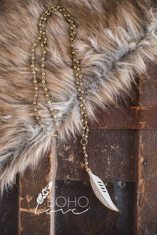 Collin Feather Necklace