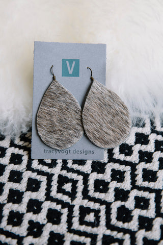 Cowhide Leather Earrings