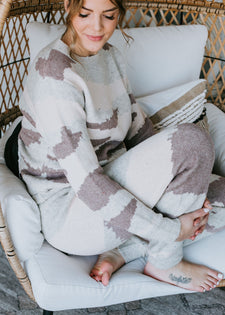 'Round The Clock Camo Lounge Set (Top & Pants) FINAL SALE