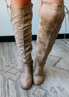 Pass On By Faux Suede Tall Boots