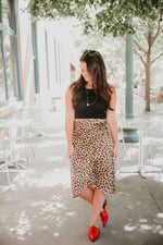 Casually Exotic Leopard Print Skirt